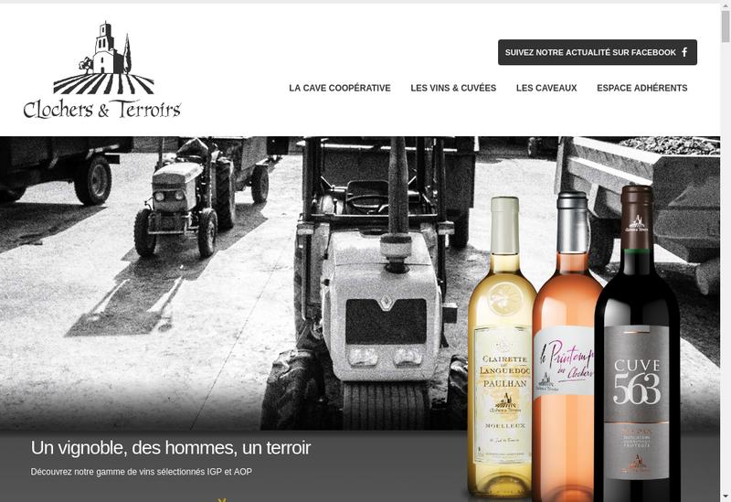 Capture d'écran du site de Clochers et Terroirs