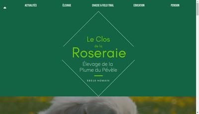 Site internet de SARL Chenil du Clos de la Roseraie