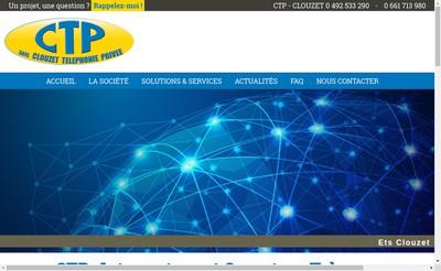 Site internet de CTP (Clouzet Telephonie Privee)