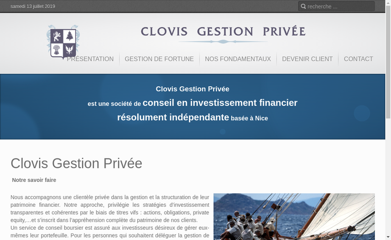 Site internet de Clovis Gestion Privee