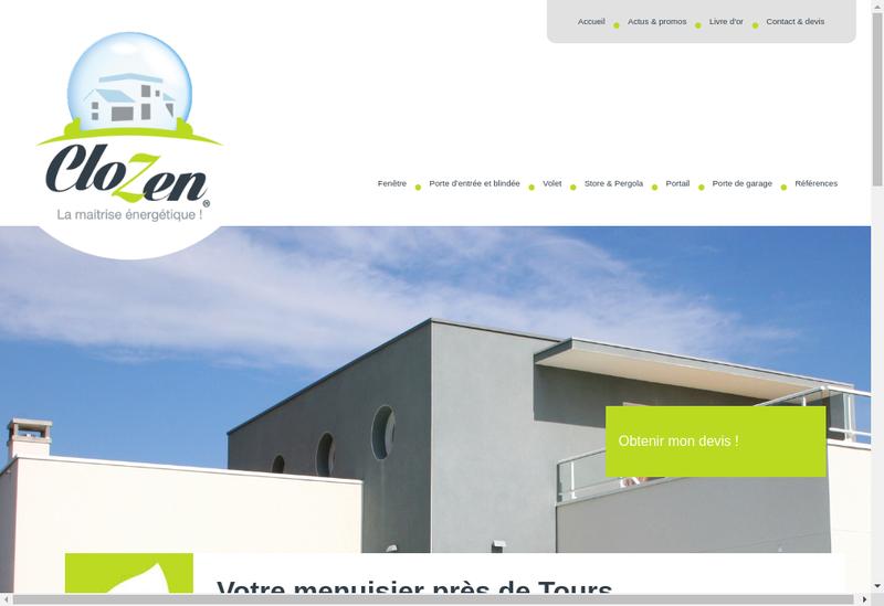 Capture d'écran du site de Clozen