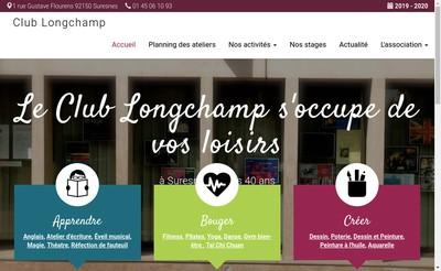 Site internet de Club Longchamp