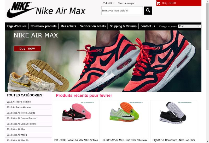 Capture d'écran du site de Club M