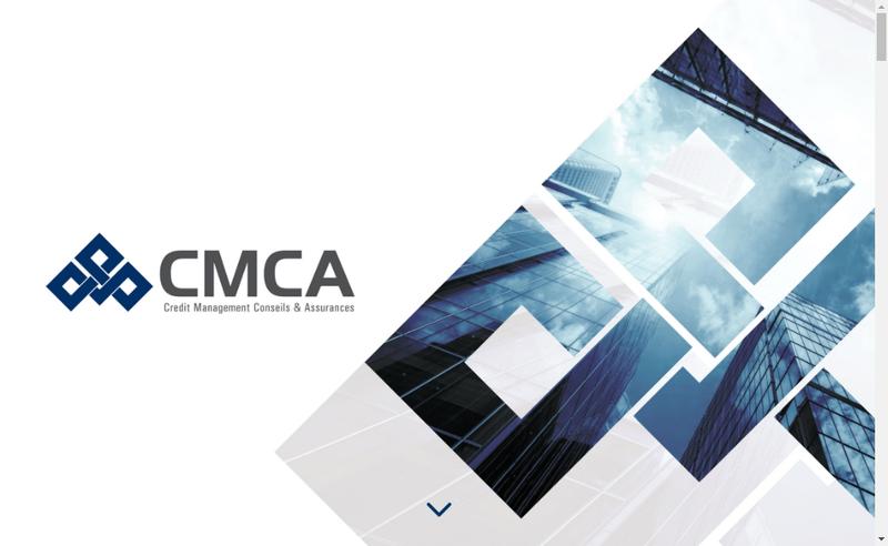 Capture d'écran du site de Cmca