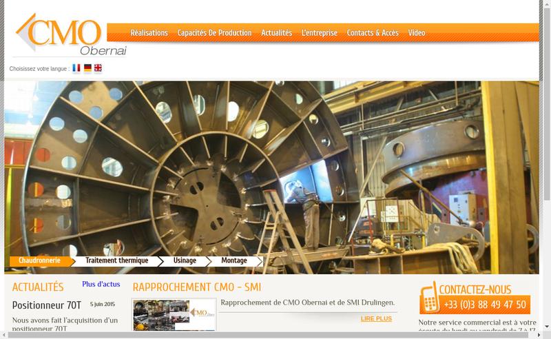 Capture d'écran du site de Cmo Obernai