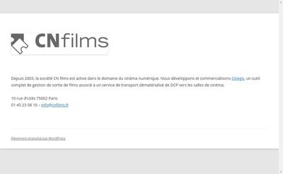 Site internet de Cn Films