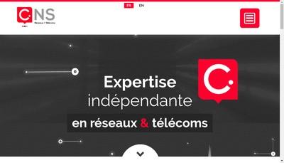 Site internet de Convergent Network Services