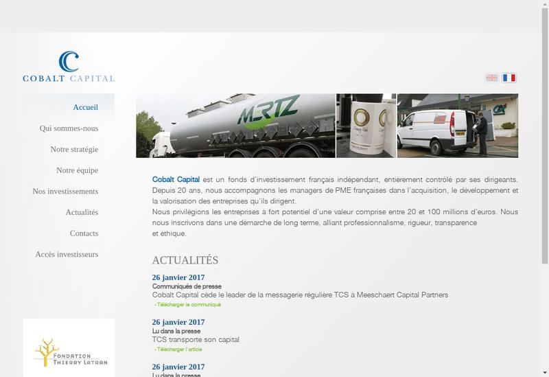 Capture d'écran du site de Cobalt Capital