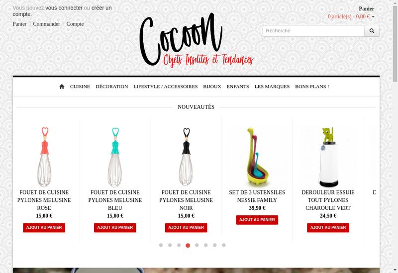 Capture d'écran du site de Cocoon