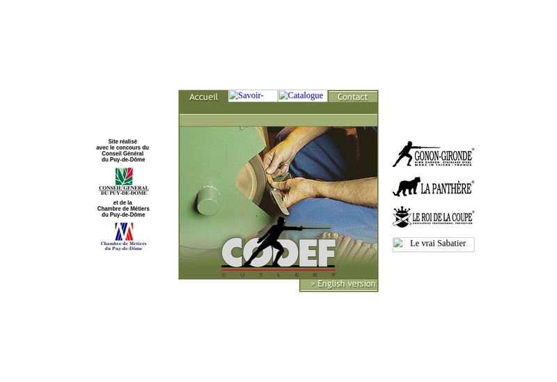 Capture d'écran du site de Coutellerie Dessapt Fils