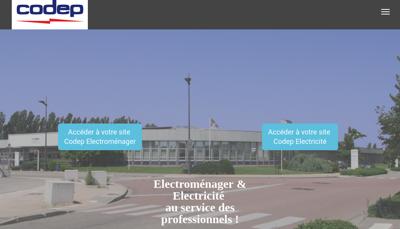Capture d'écran du site de Codep Electricite