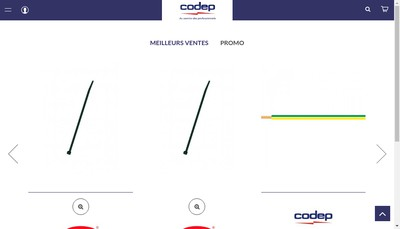 Site internet de Codep Electricite