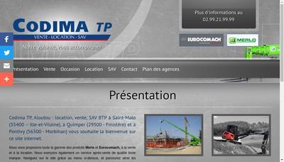 Site internet de Codima TP