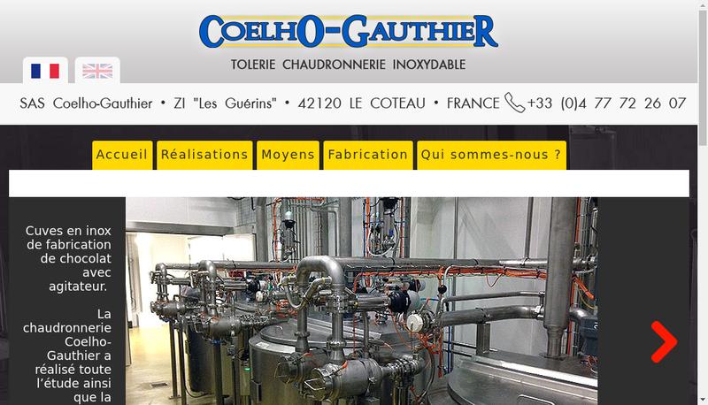 Capture d'écran du site de Coelho