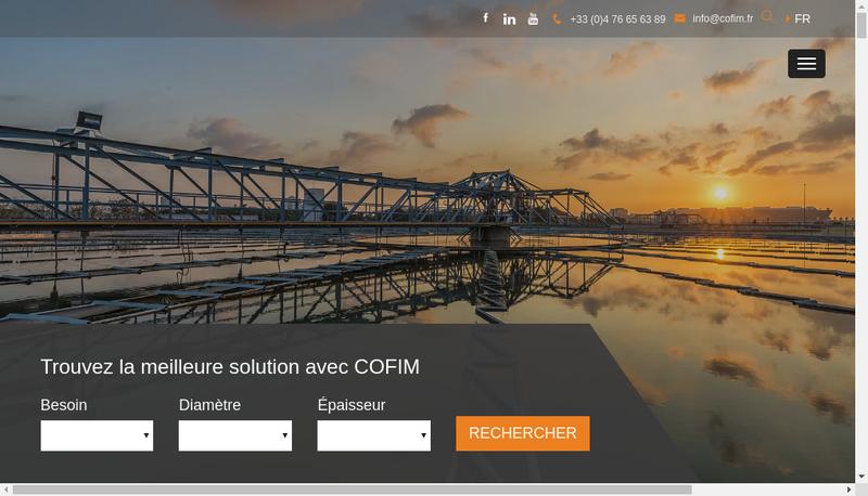 Capture d'écran du site de Cofim