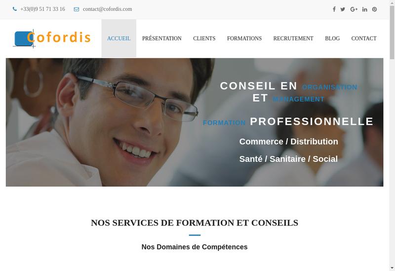 Capture d'écran du site de Cofordis