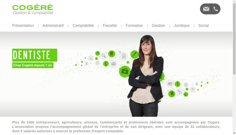 Capture d'écran du site de Cogeres