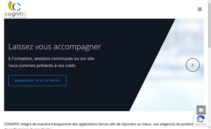 Capture d'écran du site de Cognitic