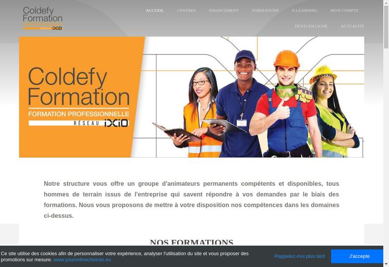 Capture d'écran du site de Ixtya