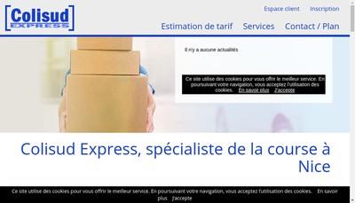 Site internet de Colisud Express
