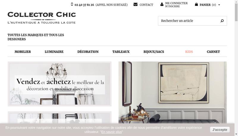 Capture d'écran du site de Collector Chic