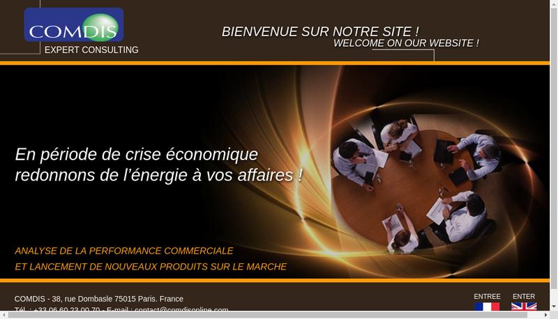Capture d'écran du site de Comdis