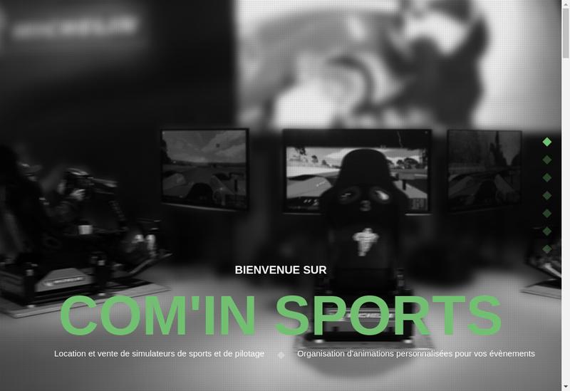 Capture d'écran du site de Com In Sports
