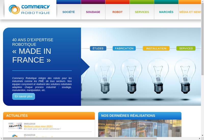 Capture d'écran du site de Commercy Robotique