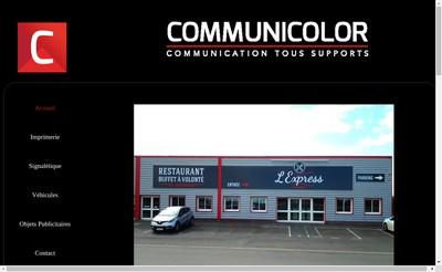 Site internet de Communicolor