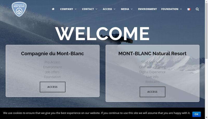 Capture d'écran du site de Montenvers-Mer de Glace