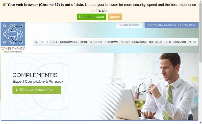 Capture d'écran du site de Complementis