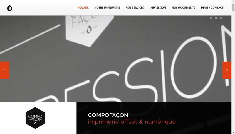 Capture d'écran du site de Compofacon