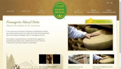 Site internet de Fromageries Marcel Petite