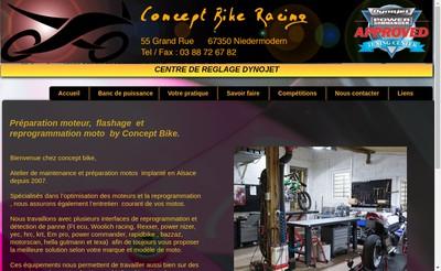 Site internet de Concept Bike