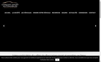 Site internet de Concept Sport Automobiles