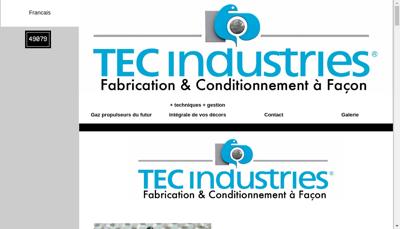 Capture d'écran du site de Tec Industries