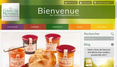 Site internet de Confit de Provence