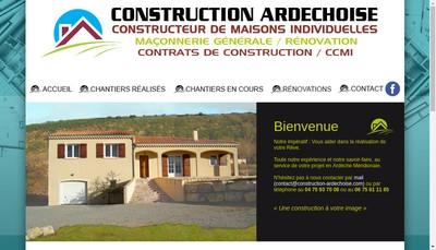 Site internet de Construction Ardechoise