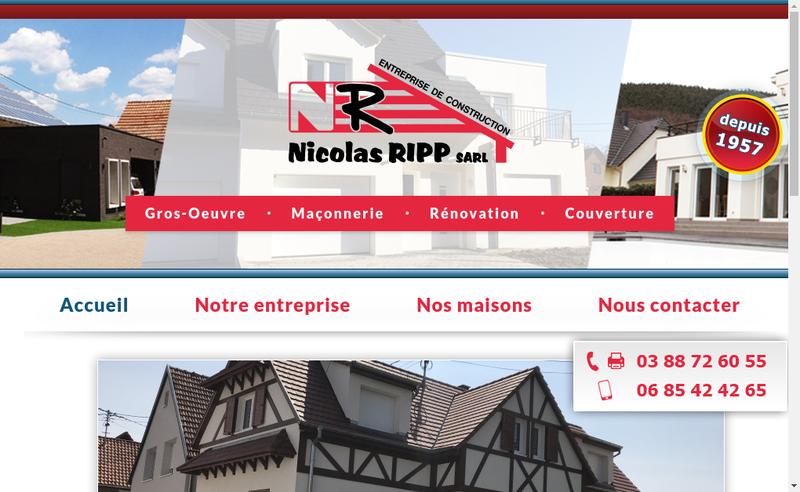 Site internet de Ripp Nicolas SARL