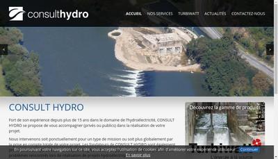 Site internet de Consult Hydro