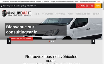 Site internet de Consulting Car