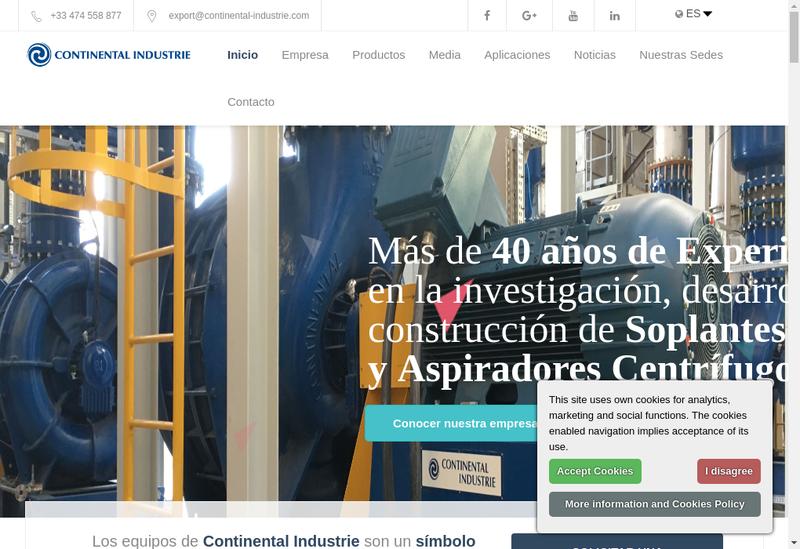 Capture d'écran du site de Continental Invest