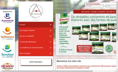Site internet de Convergence Achats