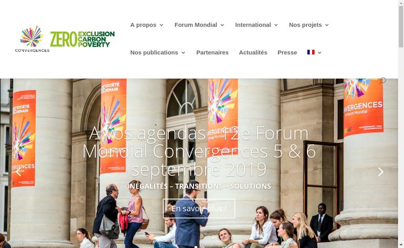 Capture d'écran du site de Convergences