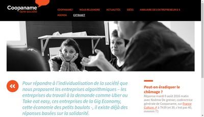 Site internet de Coopaname