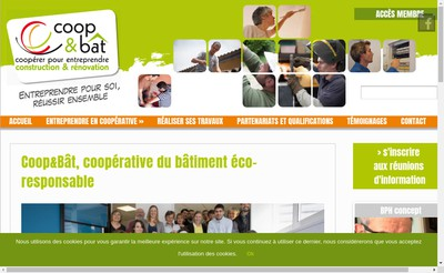 Site internet de Coop&Bat