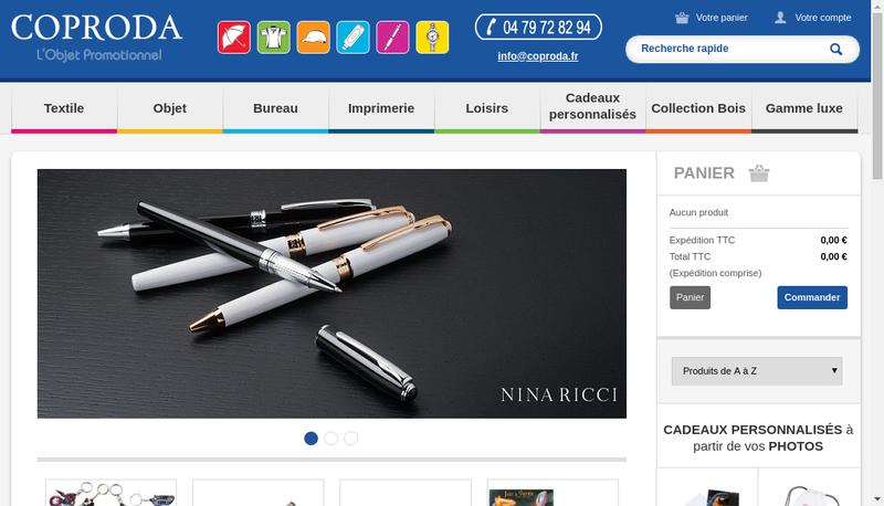Capture d'écran du site de Coproda