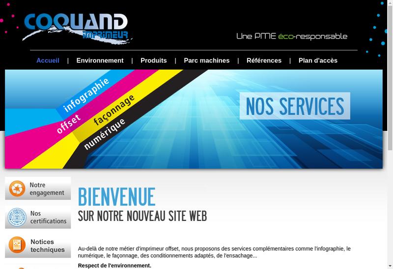 Capture d'écran du site de Coquand - Latypo Imprimeur