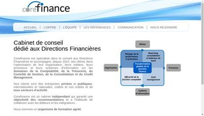 Site internet de Corefinance