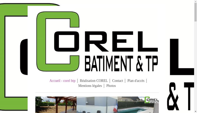 Capture d'écran du site de Corel